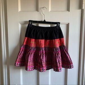 Boho handmade thick Skirt